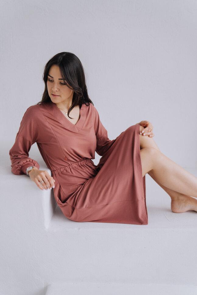 Платье «Моника», терракотовый