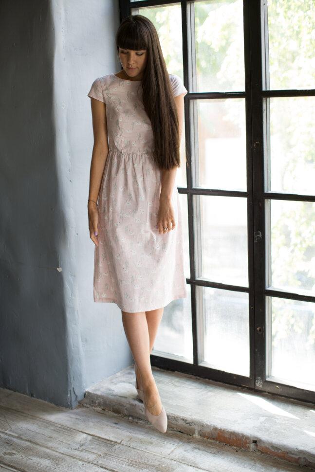 Платье «Амели», лебеди