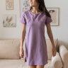 Платье-футболка для дома, темно-лиловый