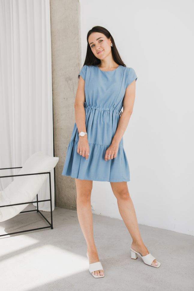 Платье, Онфлёр голубой