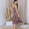 Платье «Ровена», цветы на бежевом
