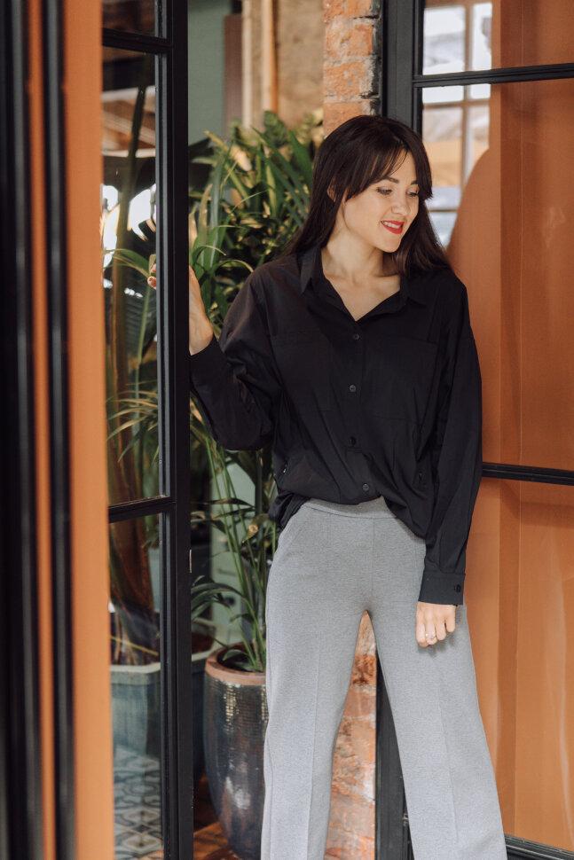 Рубашка Over Size, черный