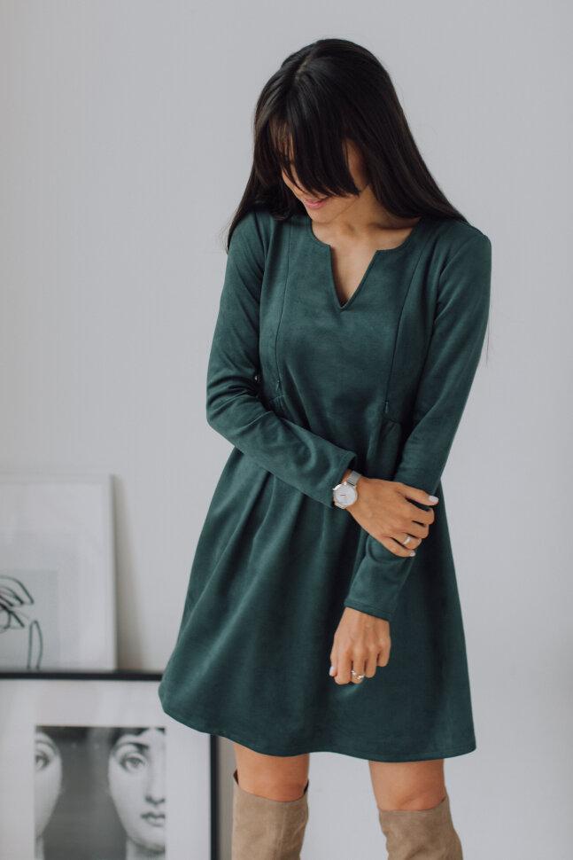 Платье «Француженка», нежно-изумрудный