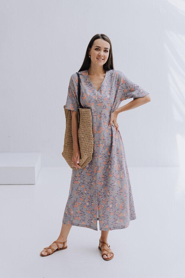 Платье-кимоно, гранаты
