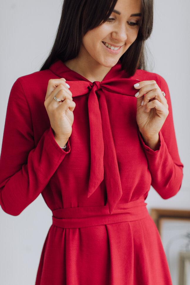 Платье-бант, красный