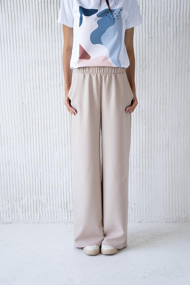 Широкие брюки, бежевый