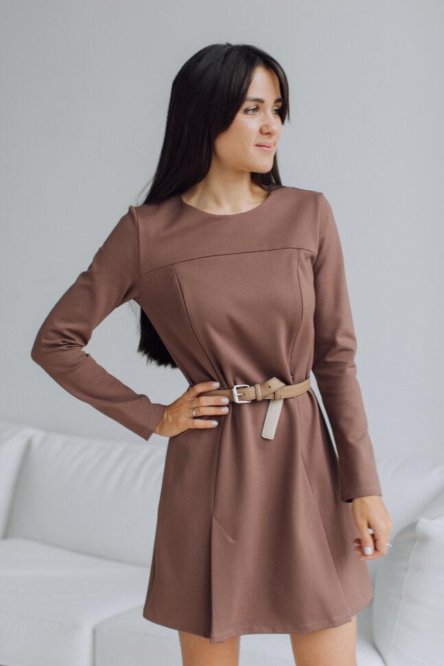Платье с разрезами, молочный шоколад