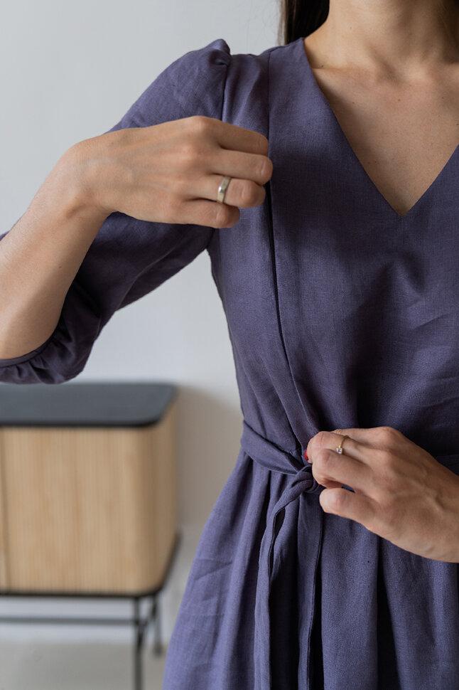 Платье «Наташа», фиолетовый