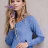 Платье «Француженка», миди, голубой