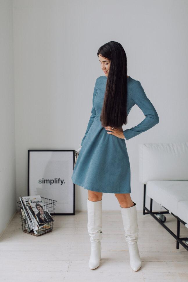 Платье Дэгни, голубое