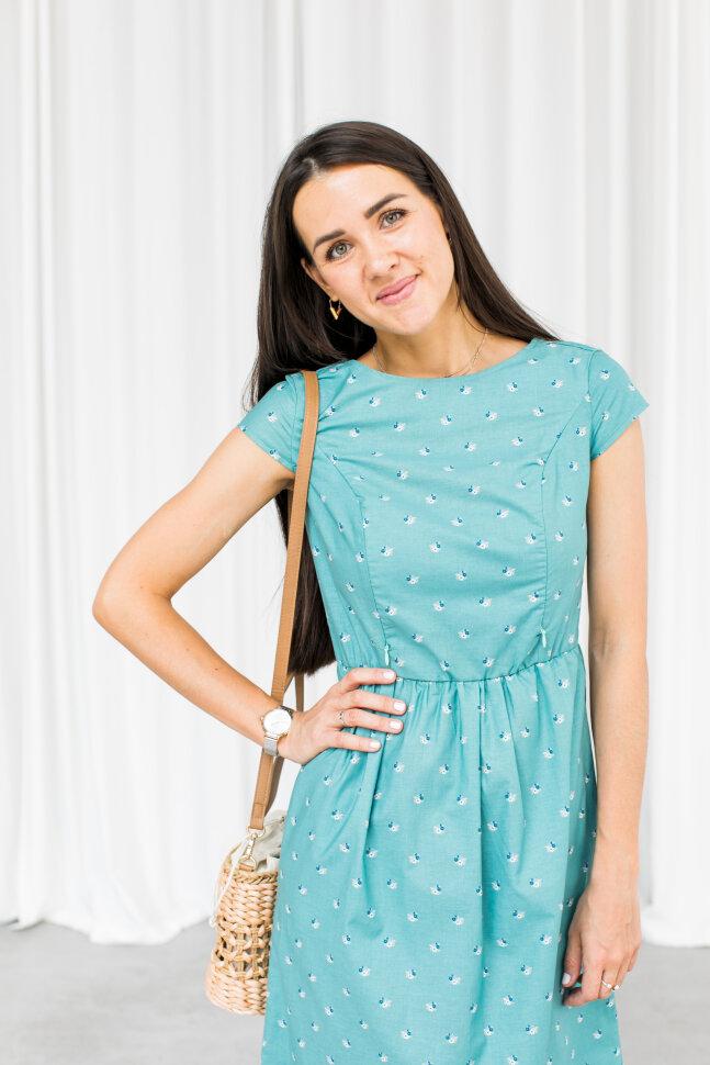 Платье Амели, цветочная ветка