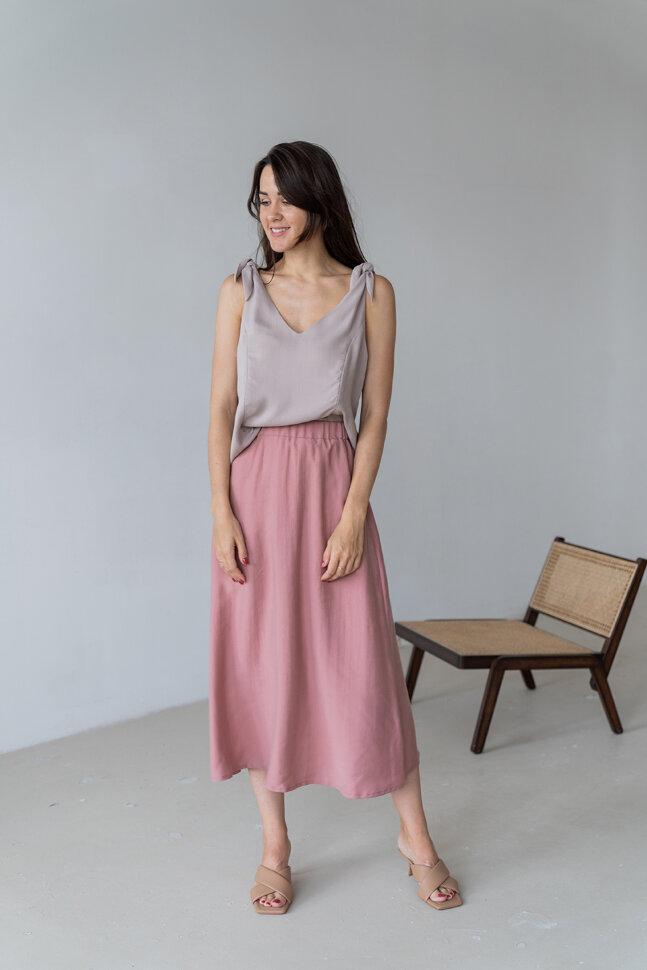Юбка на резинке, розовая