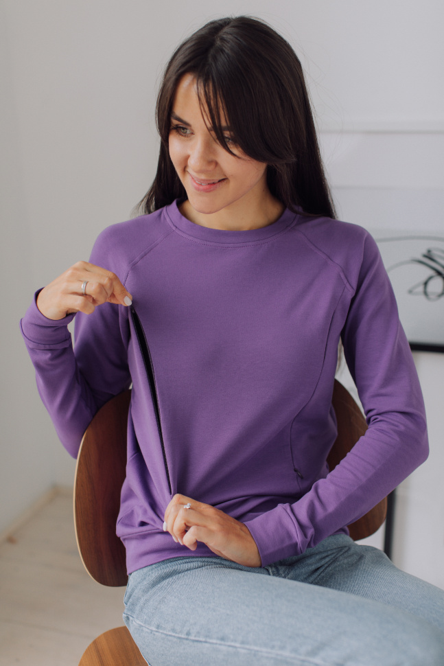 Свитшот реглан, фиолетовый
