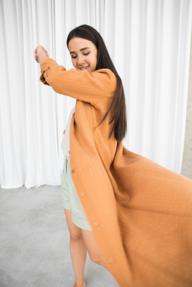 Платье рубашка, Карамель
