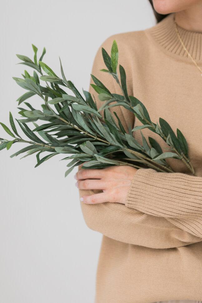 Вязанный свитер из шерсти мериноса, песочный