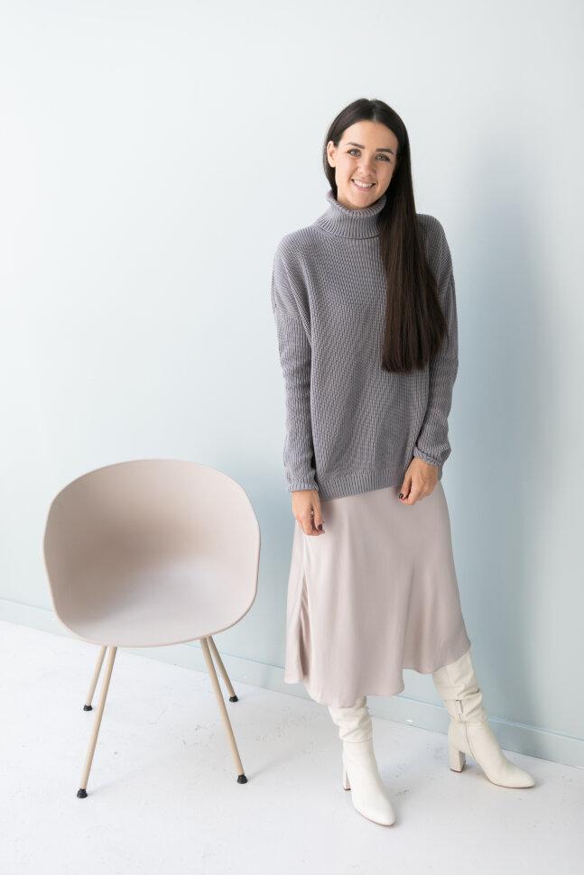 Свитер oversize, серый