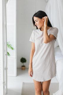 Платье-футболка для дома, какао