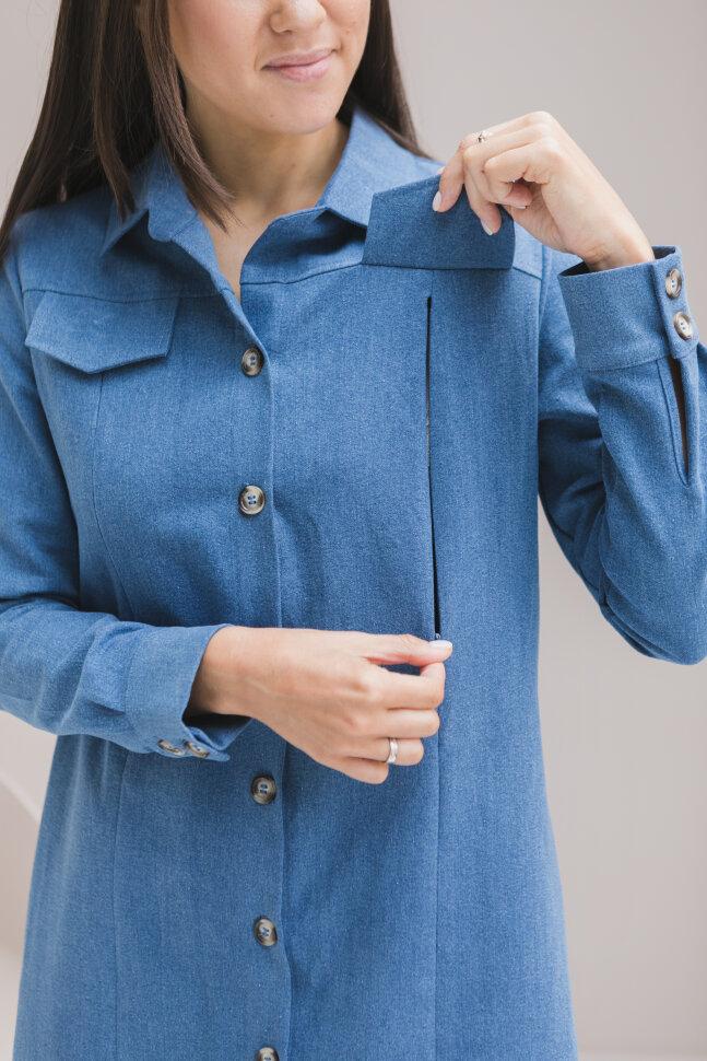 Платье-рубашка джинса