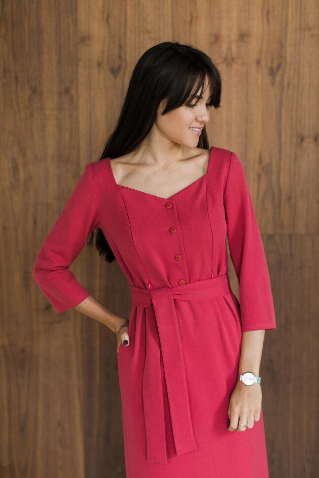 Платье Нойс, нежно красный