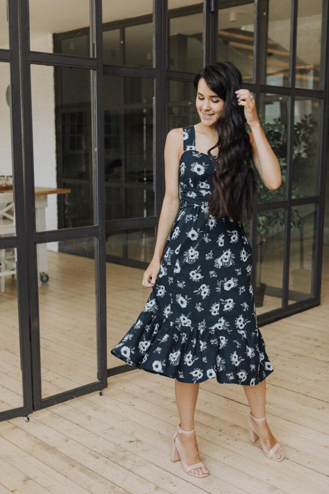 Платье «Ровена», анемоны