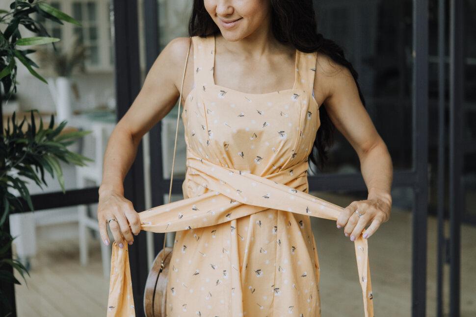 Платье «Ровена», одуванчики